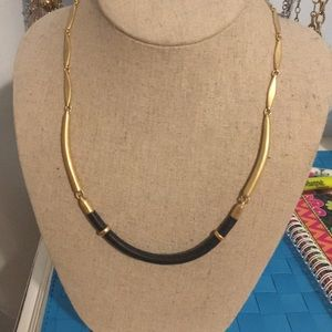 Black and Gold Stella and Dot Necklace